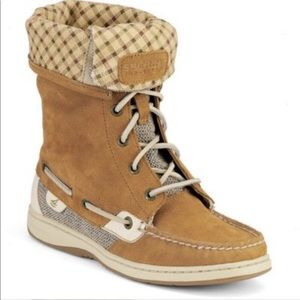 Sperry | Bluefish Suede Boots Fold Cuff Sz 8M